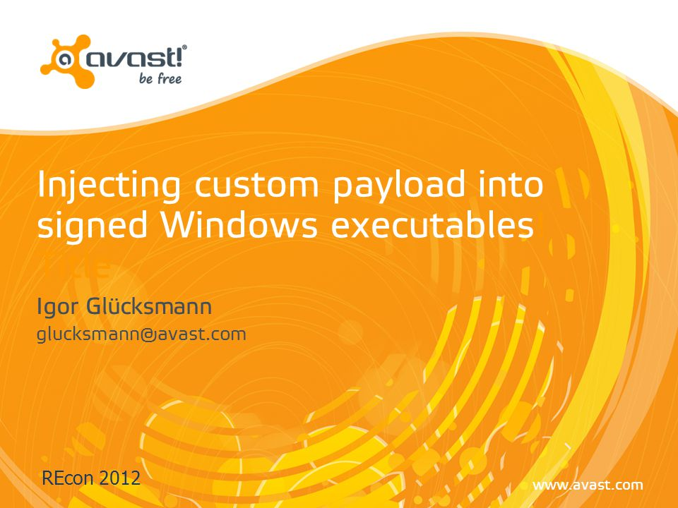 Injecting custom payload into signed Windows executables! Title