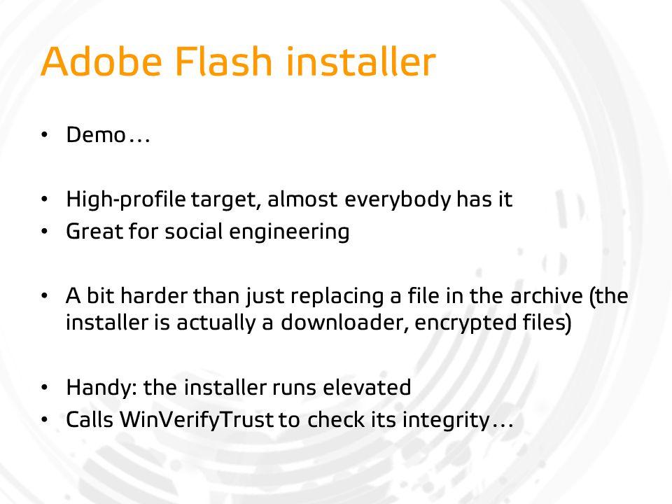 Adobe Flash installer Demo…
