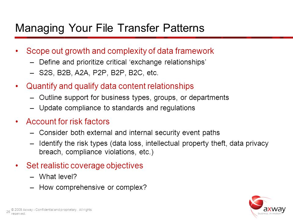 Managing Your File Transfer Patterns