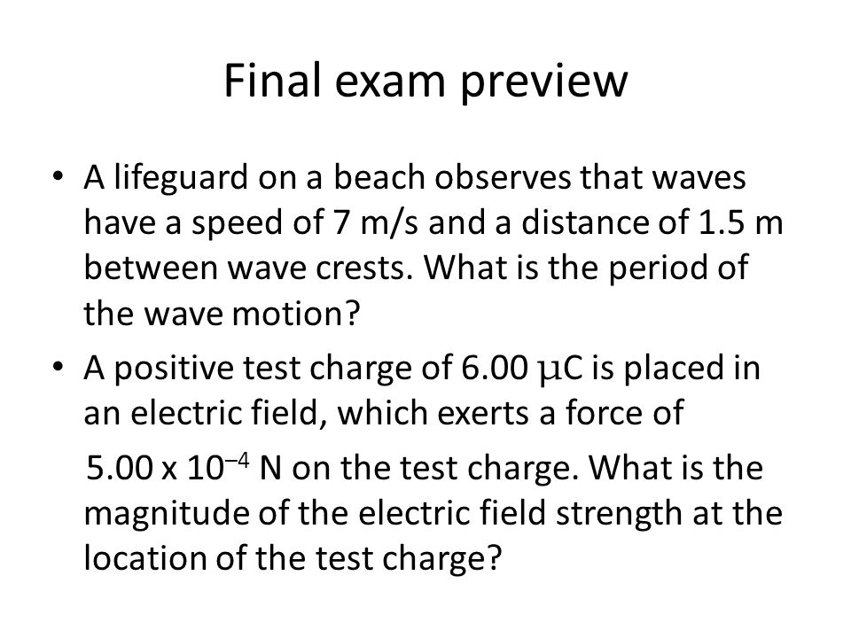 Final exam preview