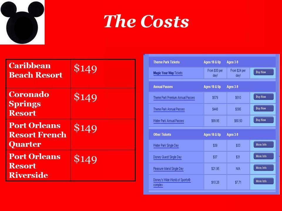 The Costs $149 Caribbean Beach Resort Coronado Springs Resort