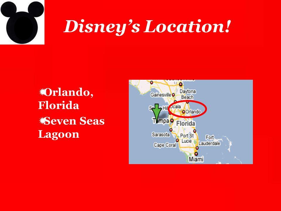 Disney's Location! Orlando, Florida Seven Seas Lagoon