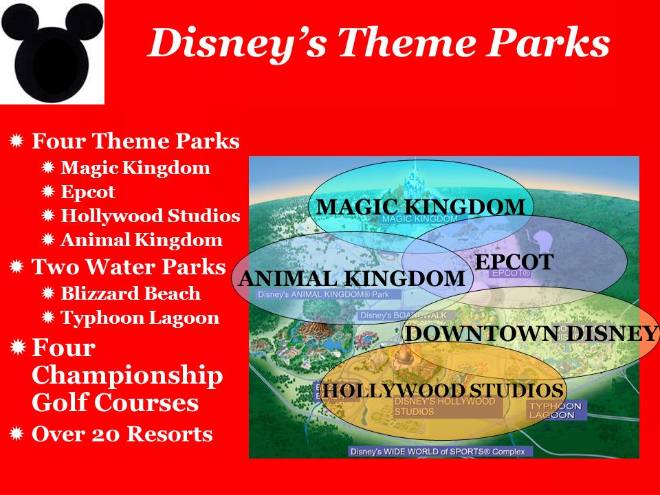 Disney's Theme Parks Four Championship Golf Courses Four Theme Parks