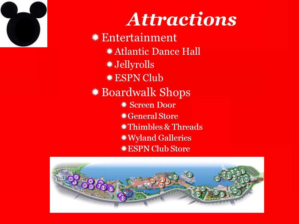 Attractions Entertainment Boardwalk Shops Atlantic Dance Hall
