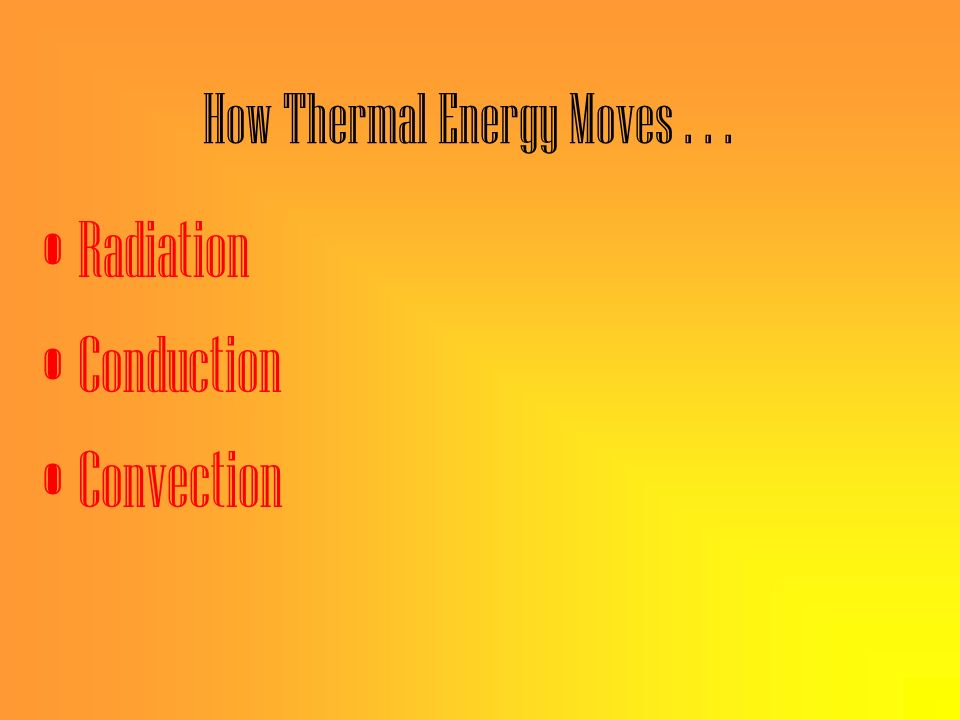 How Thermal Energy Moves . . .