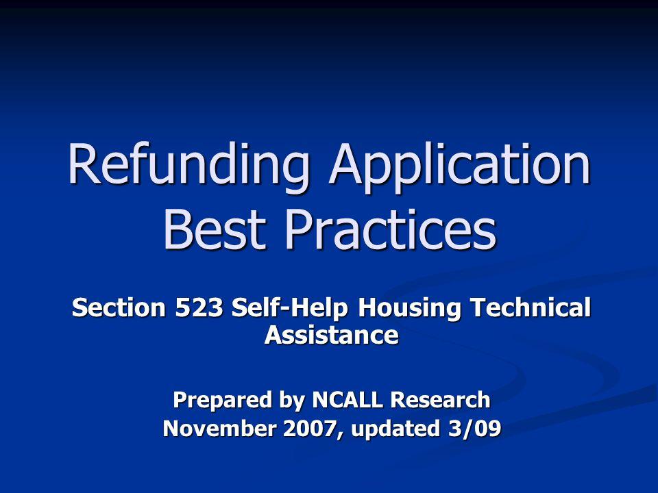 Refunding Application Best Practices