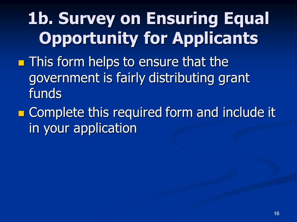 1b. Survey on Ensuring Equal Opportunity for Applicants