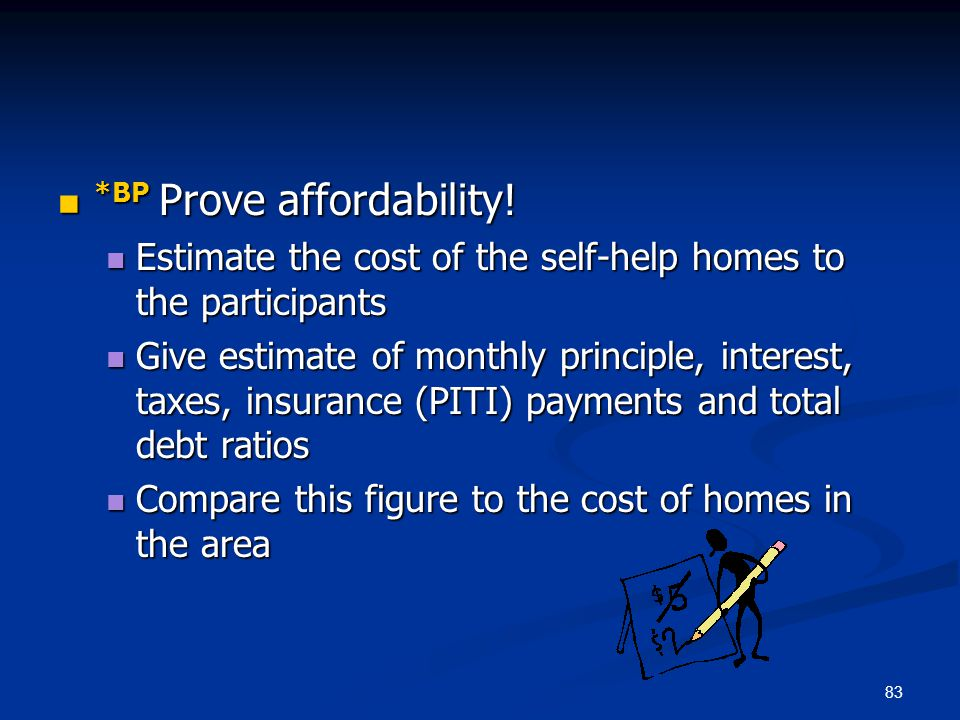 *BP Prove affordability!