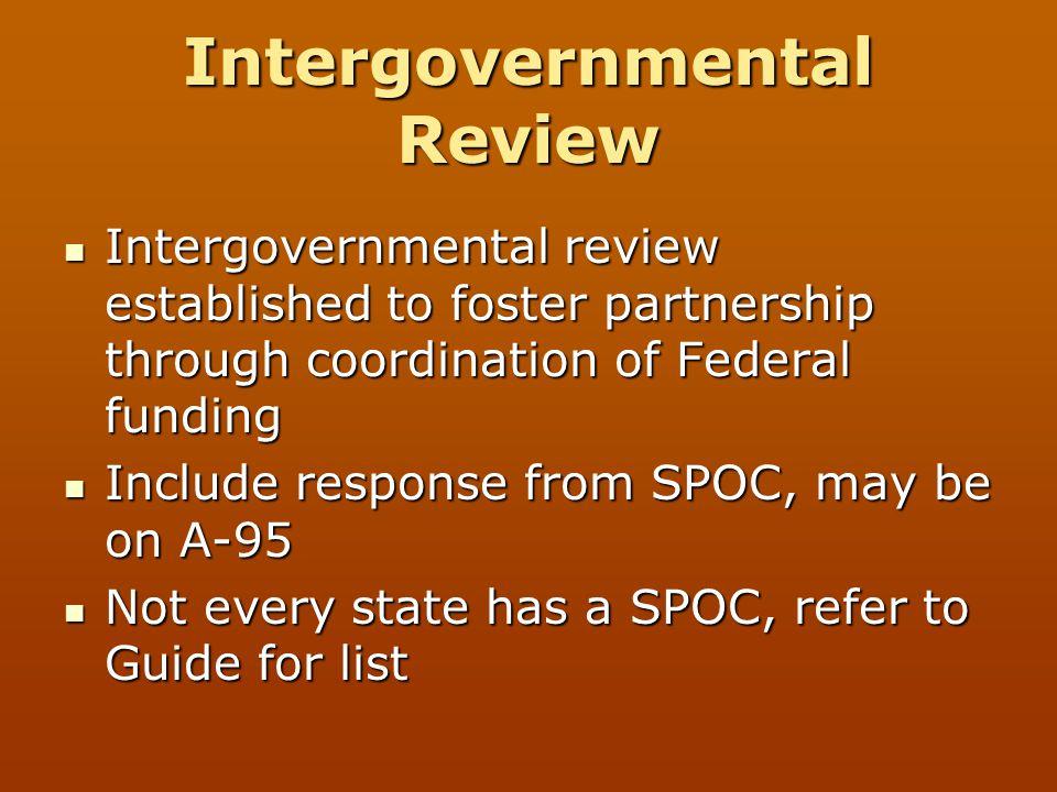 Intergovernmental Review