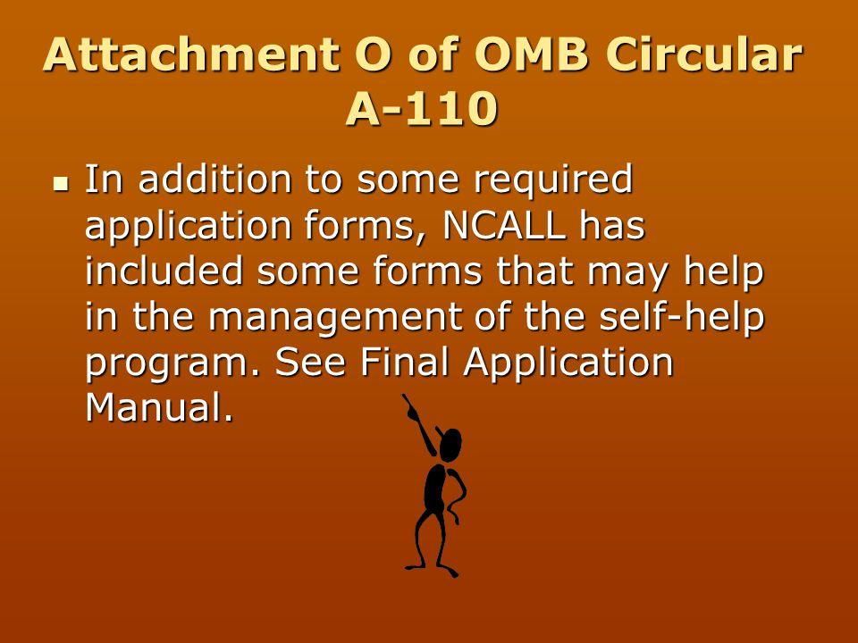 Attachment O of OMB Circular A-110