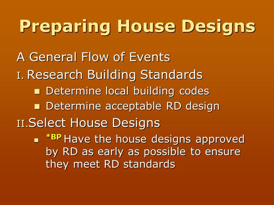 Preparing House Designs