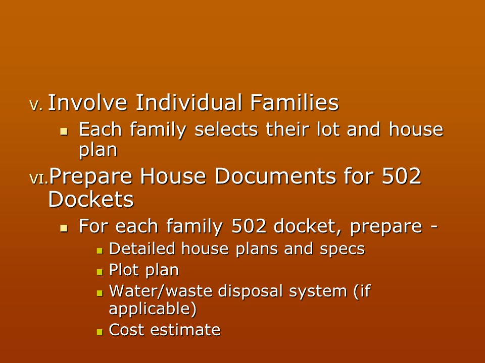 Involve Individual Families