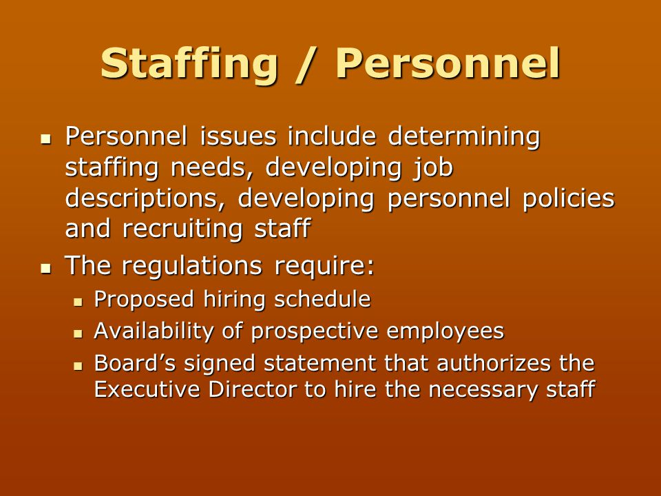 Staffing / Personnel