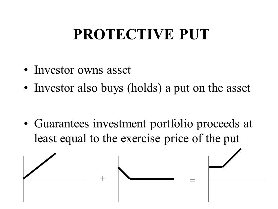 PROTECTIVE PUT Investor owns asset