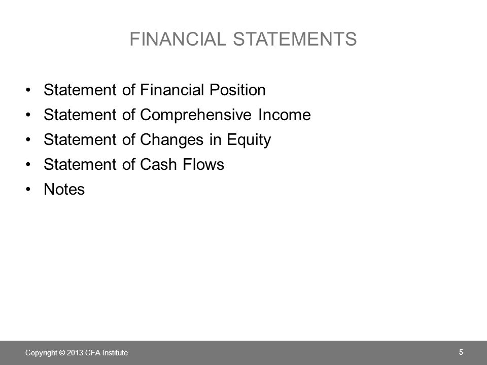 FINANCIAL STATEMENTS Statement of Financial Position