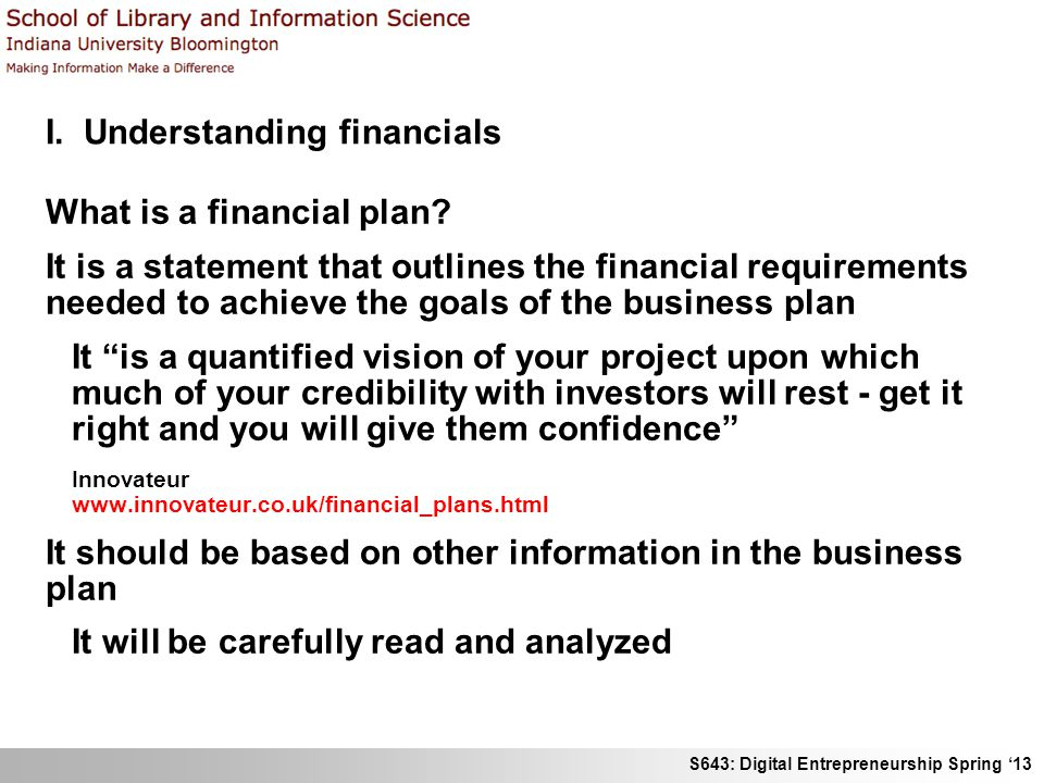 Business plan financial goals images