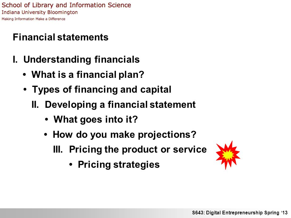 Financial Statements I. Understanding Financials • What Is A