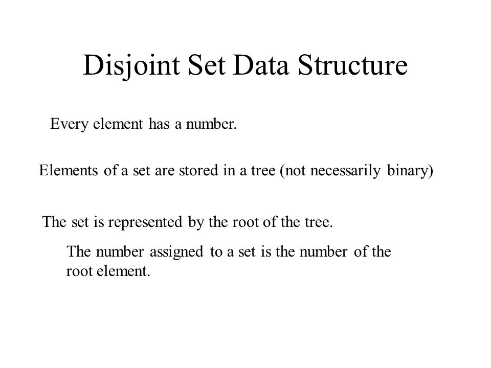 Disjoint Set Data Structure