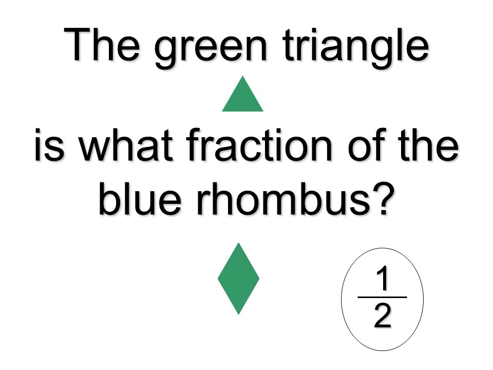 is what fraction of the blue rhombus