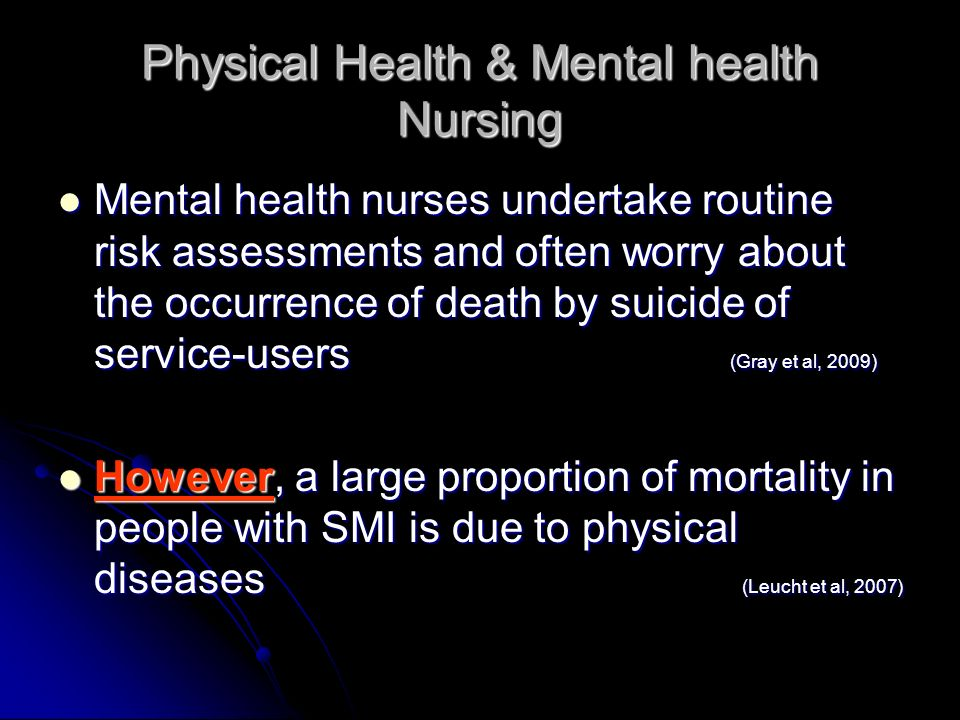 Physical Health & Mental health Nursing