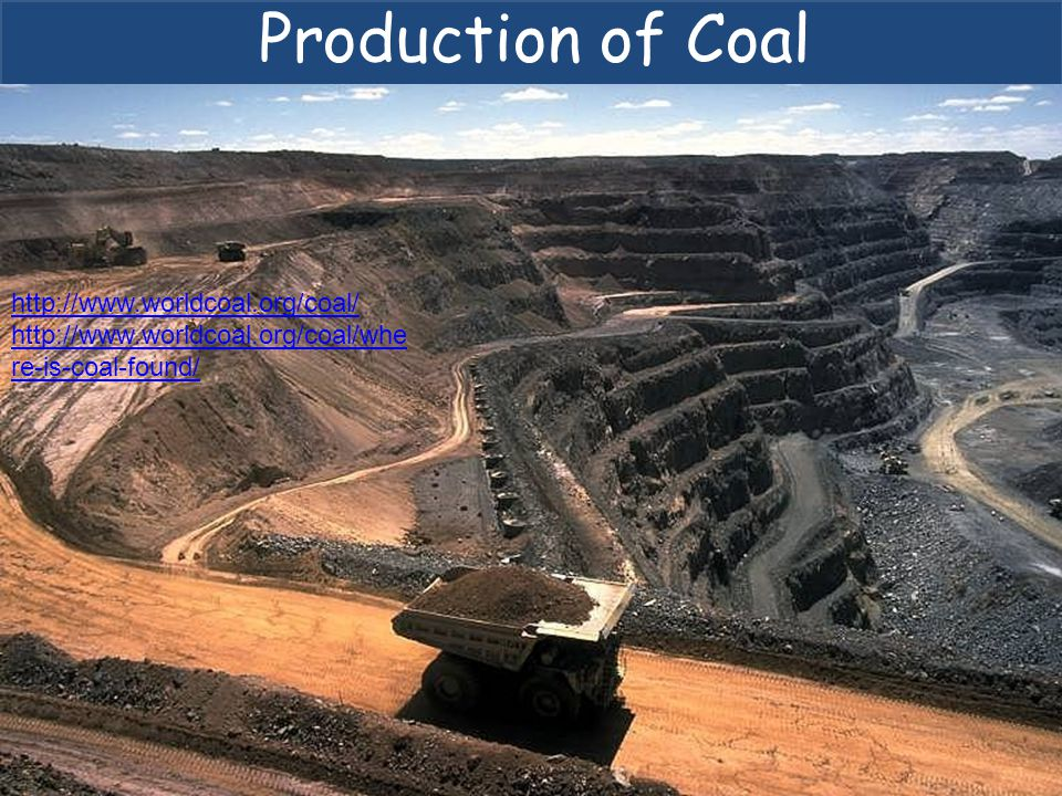Production of Coal http://www.worldcoal.org/coal/