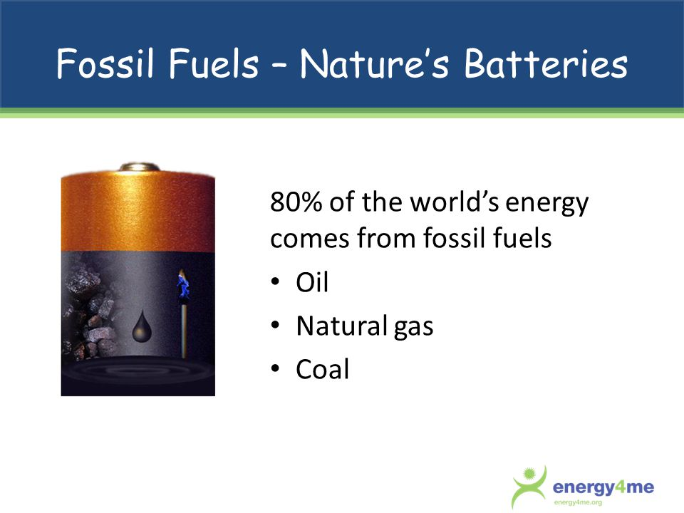 Fossil Fuels – Nature's Batteries