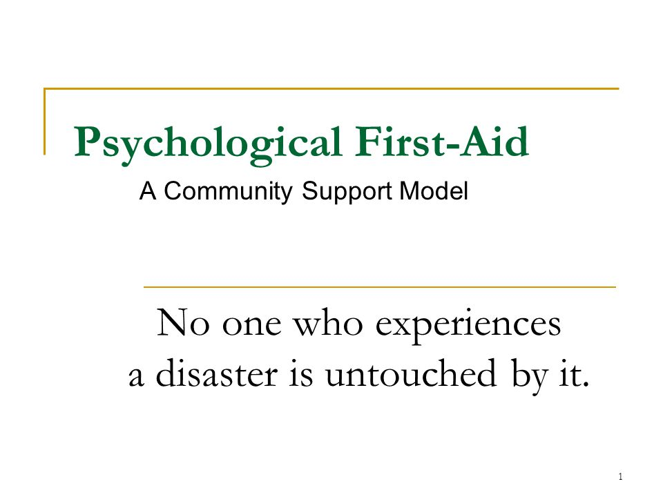 Psychological First-Aid