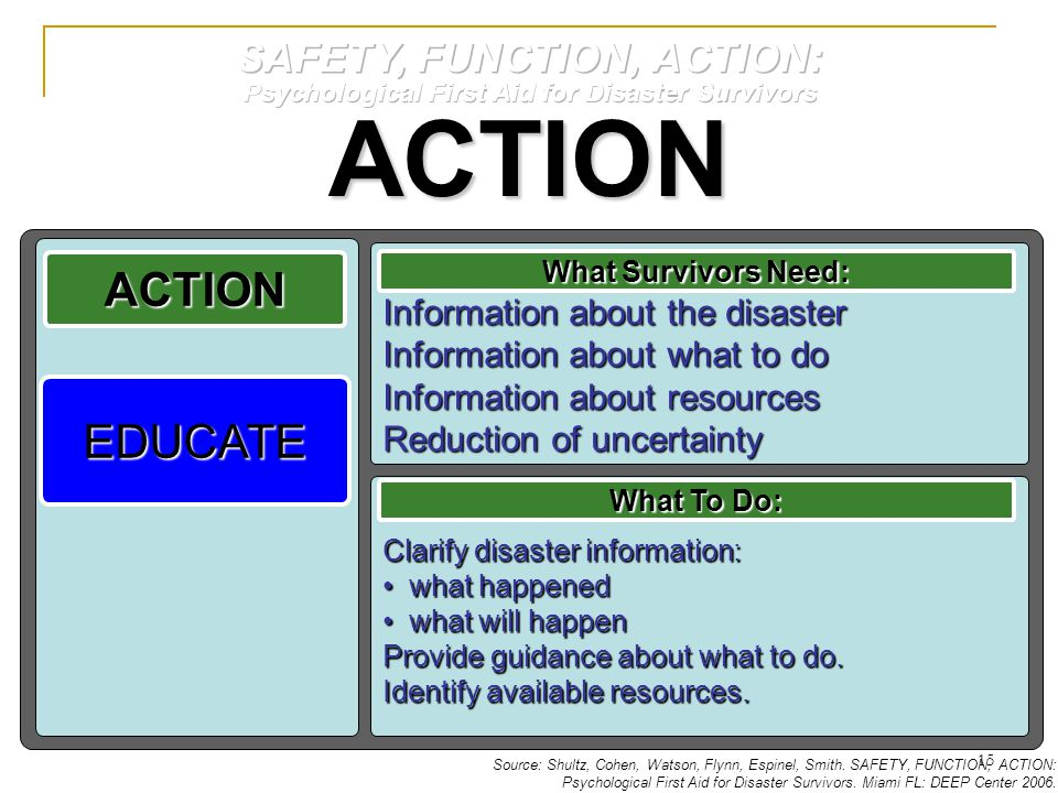 ACTION ACTION EDUCATE SAFETY, FUNCTION, ACTION: