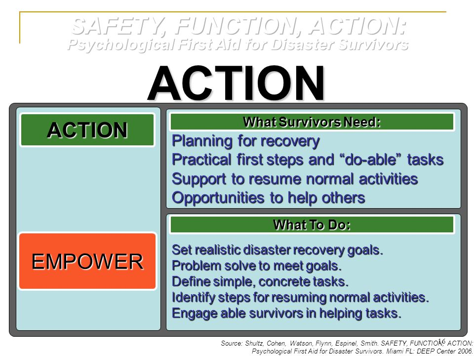 ACTION SAFETY, FUNCTION, ACTION: ACTION EMPOWER