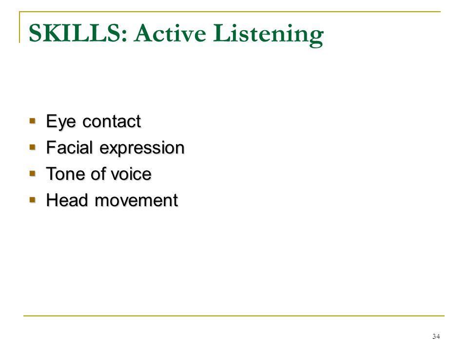 SKILLS: Active Listening