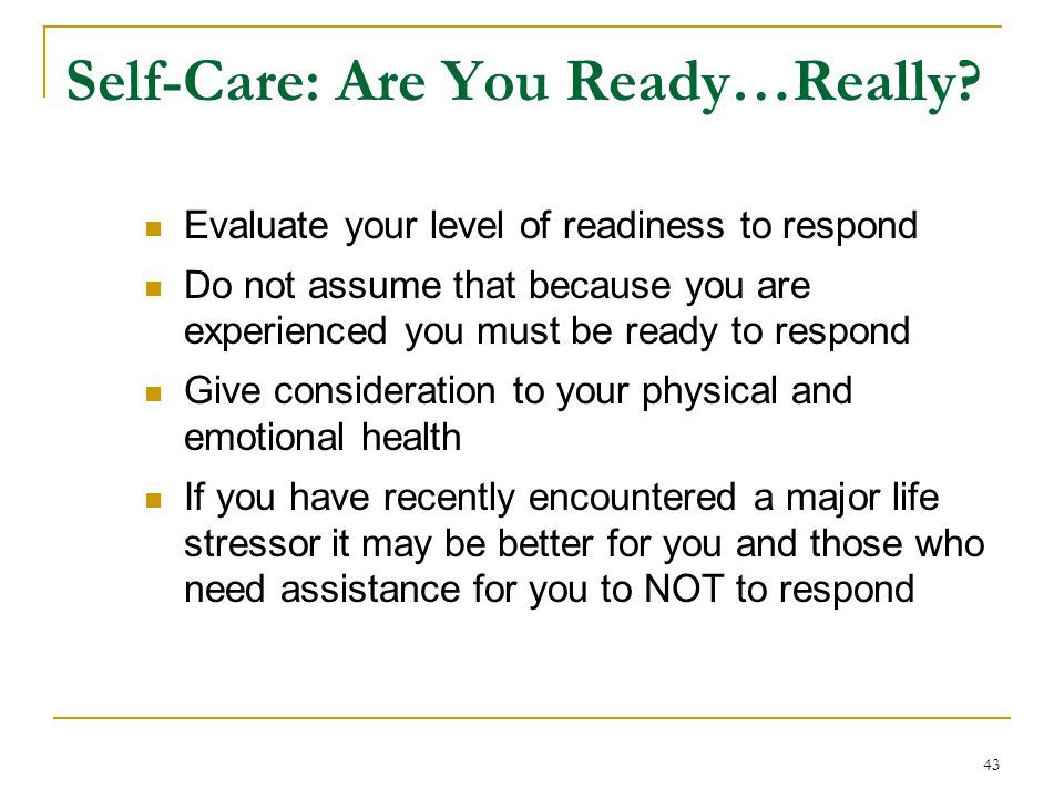 Self-Care: Are You Ready…Really