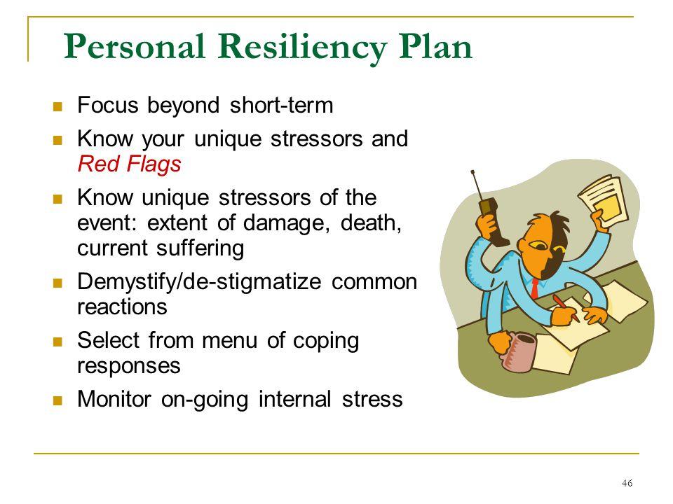 Personal Resiliency Plan
