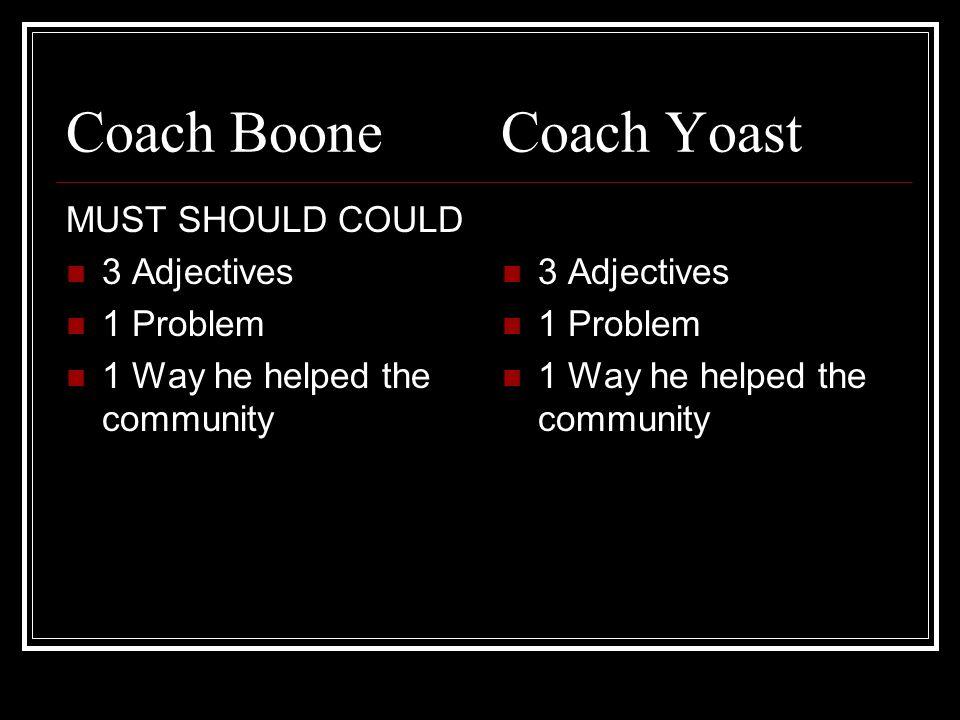 Coach Boone Coach Yoast