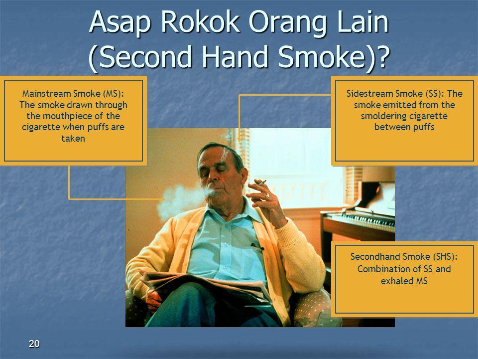 Asap Rokok Orang Lain (Second Hand Smoke)
