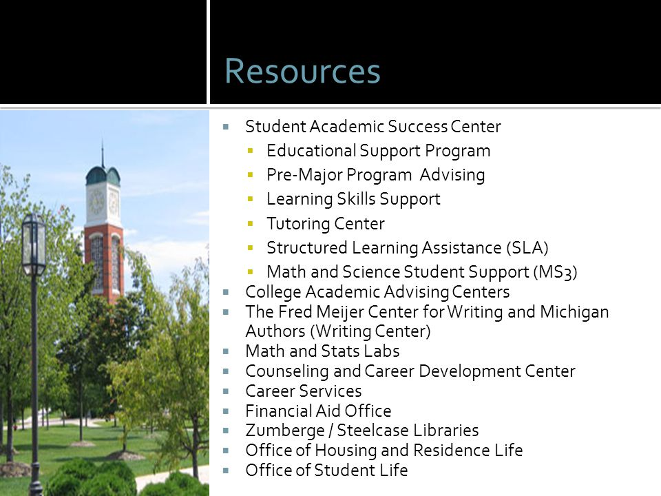 Resources Student Academic Success Center Educational Support Program