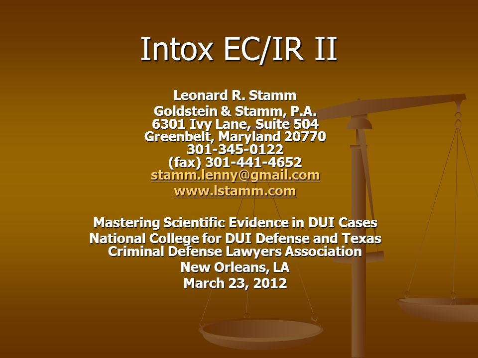 Mastering Scientific Evidence in DUI Cases