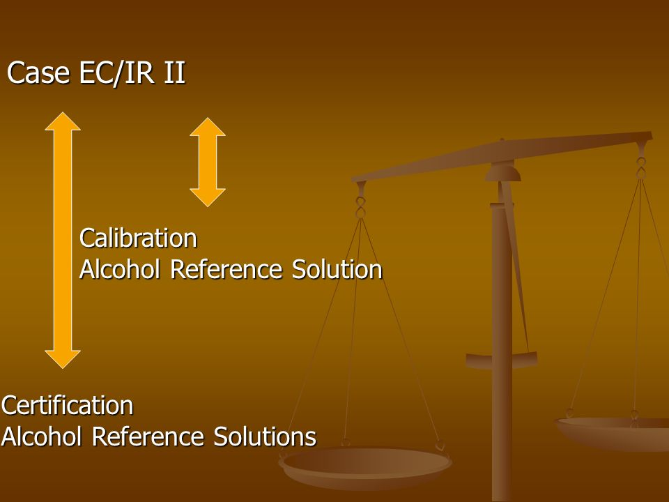Case EC/IR II Calibration Alcohol Reference Solution Certification