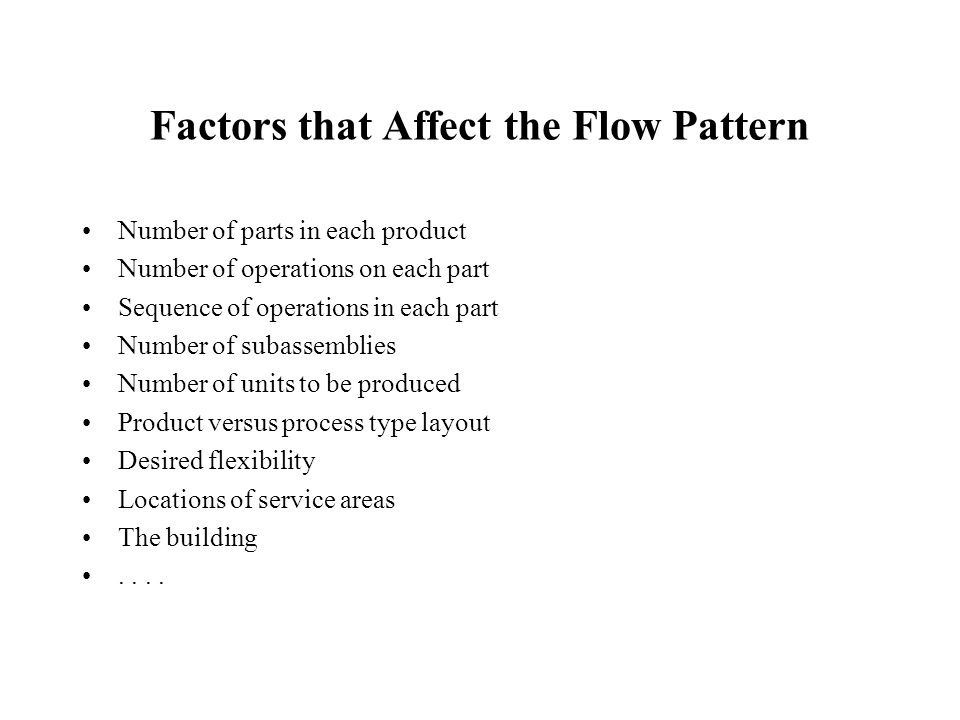 Flow Analysis Factors That Affect The Flow Pattern Ppt Download