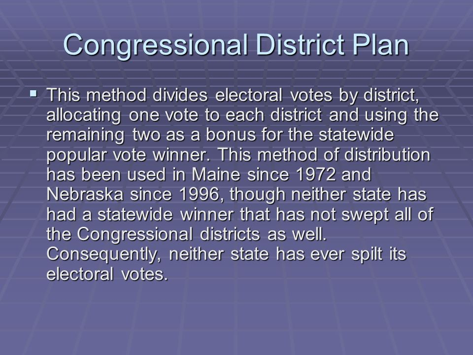 Congressional District Plan