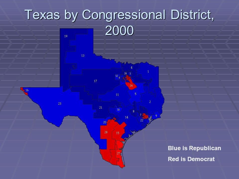 Texas by Congressional District, 2000
