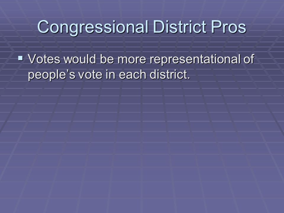 Congressional District Pros