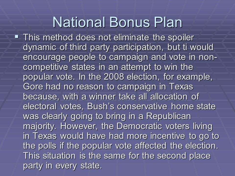 National Bonus Plan