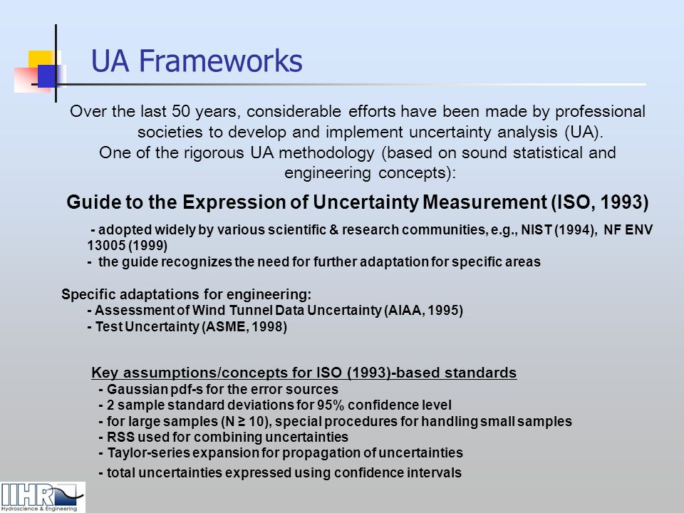 Guide to the Expression of Uncertainty Measurement (ISO, 1993)