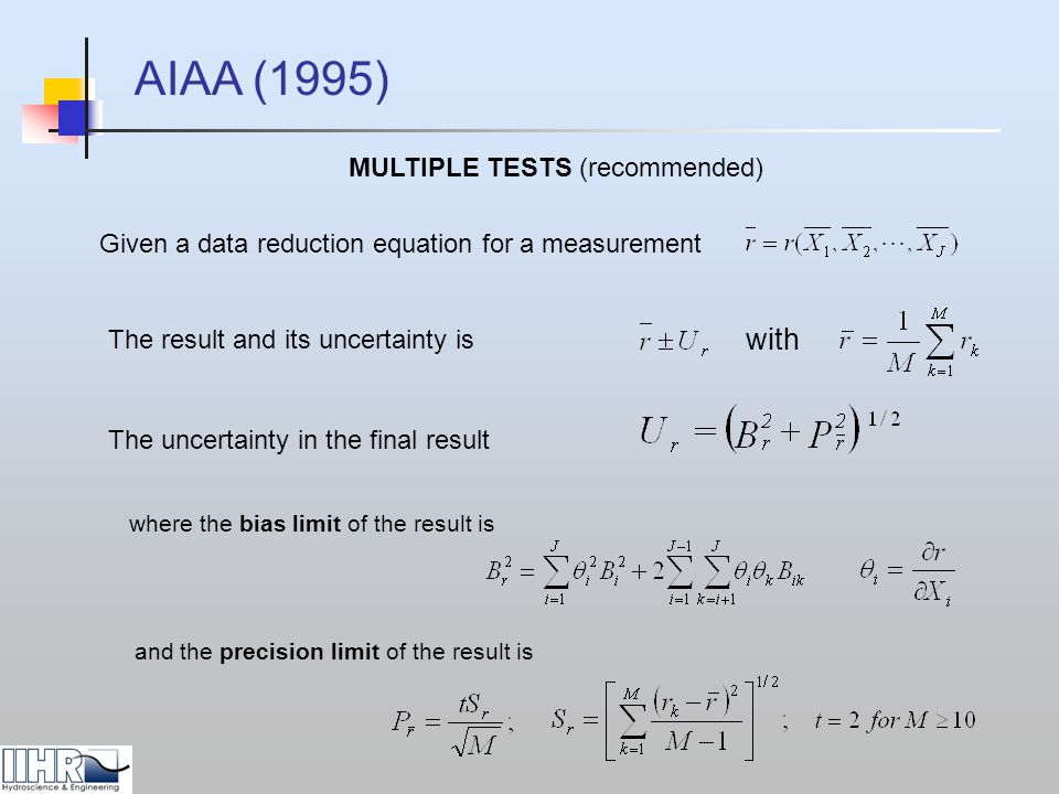 MULTIPLE TESTS (recommended)