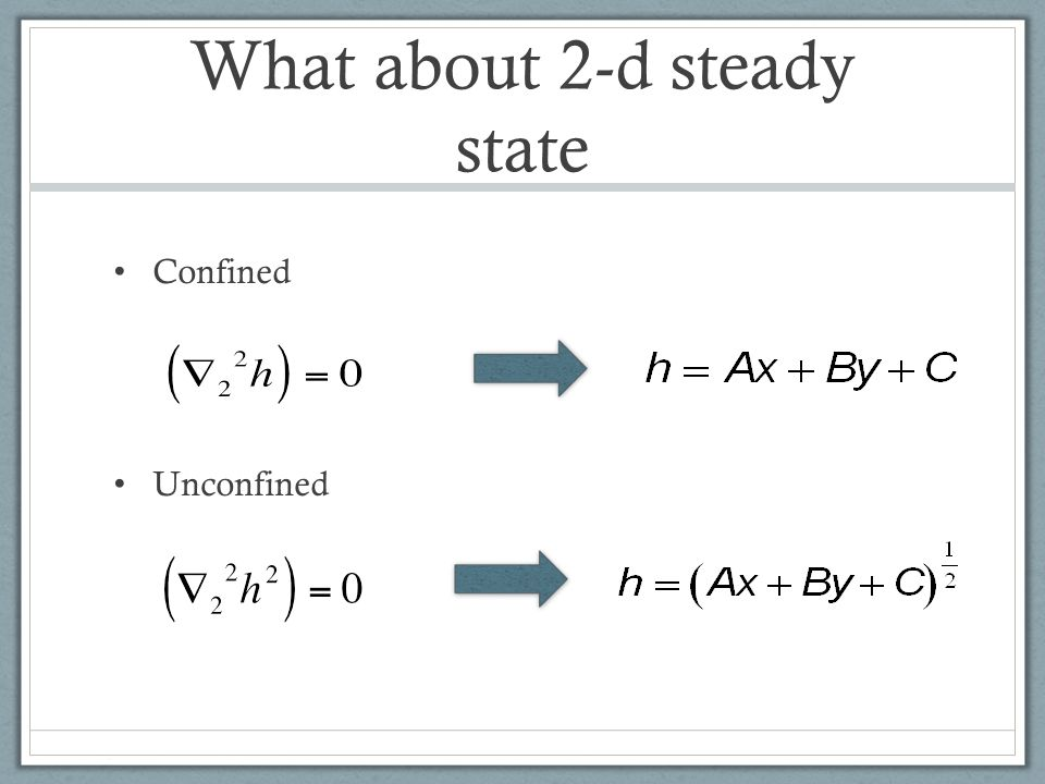 What about 2-d steady state