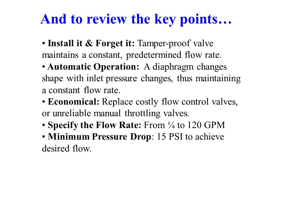 And to review the key points…