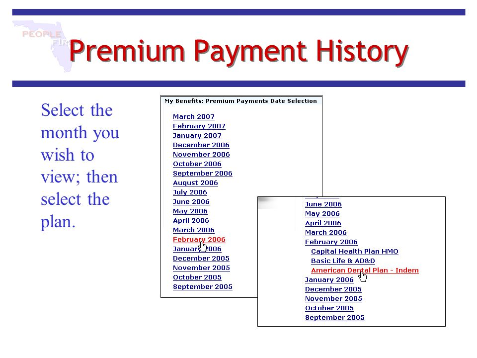 Premium Payment History