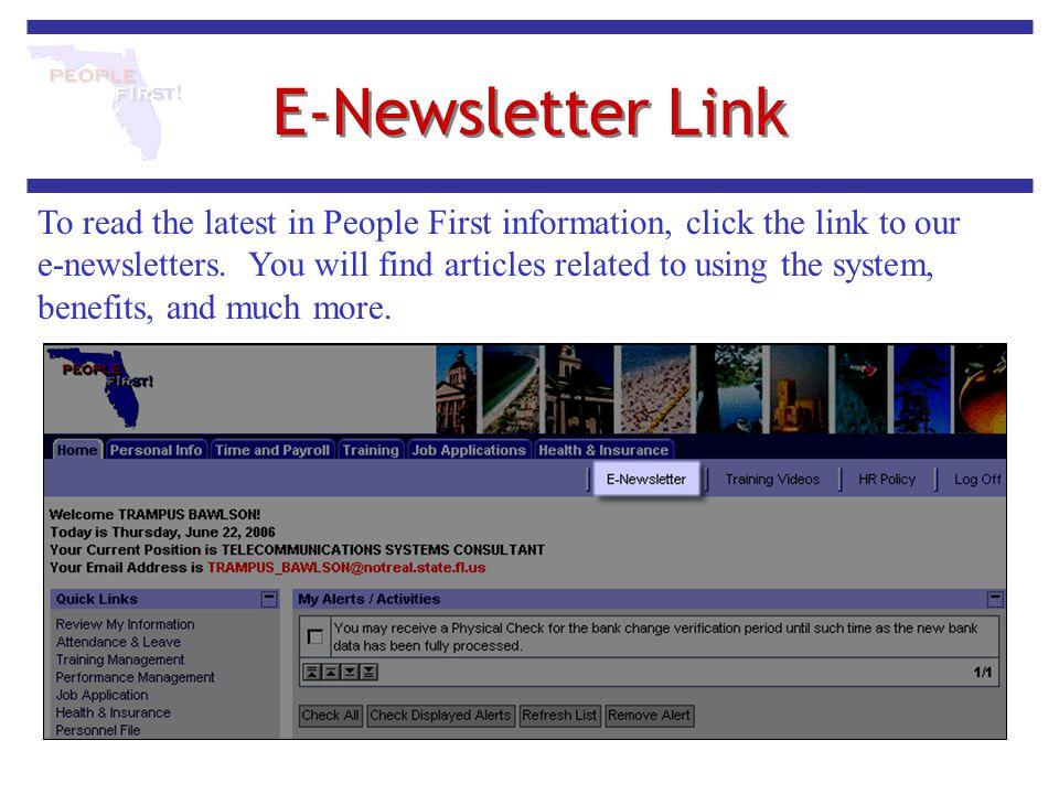 E-Newsletter Link