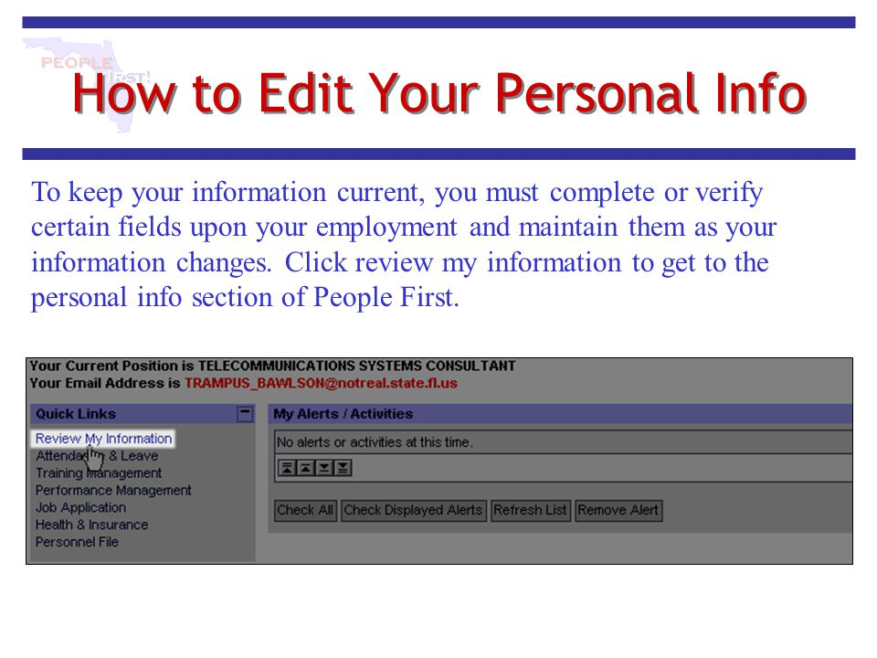 How to Edit Your Personal Info