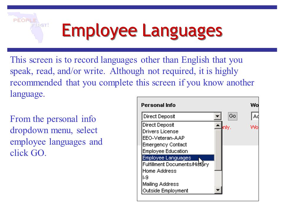 Employee Languages